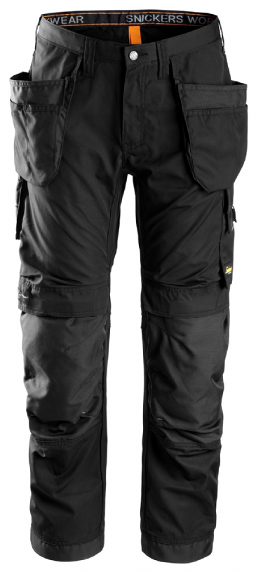Snickers 6201 AllroundWork Work Trousers with Holster Pockets (Black)